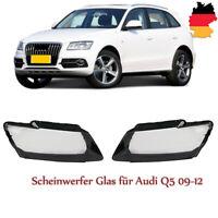 Scheinwerfer Glas für Audi Q5 09-12 vor Facelift Linsen Streuscheiben Abdeckung