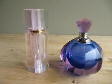 2 Art Glass Perfume Bottles