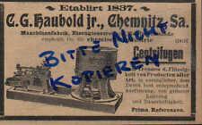 Chemnitz, Pubblicità visualizzazione/1902, C. G. Haubold Jr. centrifughe per separare D. F
