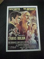 TARAS BULBA, film card [Tony Curtis, Yul Brynner]