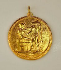 24kt Gold Plated Egyptian Charm Anubis PHAROAH Egypt Egyptian Jewelry LOOK
