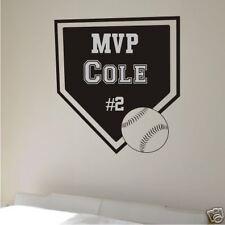 Wall Vinyl Word Art Decal - Custom Baseball Home Plate