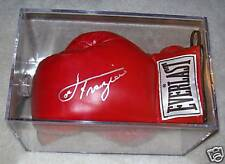 JOE FRAZIER. AUTOGRAPH GLOVE IN CASE .+ 2ND GLOVE. W/ PICTURE OF SIGNING & COA.