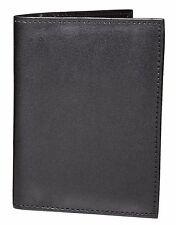 ASHLIN® RFID Blocking Passport Wallet - 100% Vegan Leather - Black