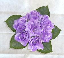 Rosenstrauß /  Seidenblumen - Blumenstrauß flieder