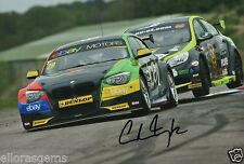 "British Touring car Colin Turkington main signé eBay AUTO-MOTO BMW 12x8"" BTCC AB"