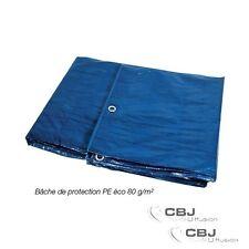 Bâche de protection légère 6 x 10m 80 gr / m² Bois toiture quad piscine voiture