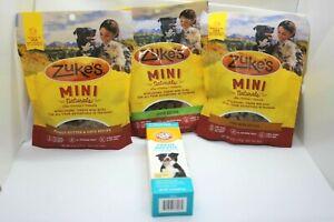 Zuke'S Mini Naturals Chicken, Duck , Peanut butter Recipe Dog Treats 6oz Bonus