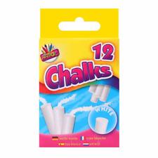 Pack of 24 White Colour Chalk Sticks For Home School Office Art Board Blackboard