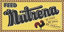 """NUTRENA FEED AGRICULTURE OLD SIGN REMAKE ALUMINUM INDOOR/OUTDOOR 12"""" X 24"""""""