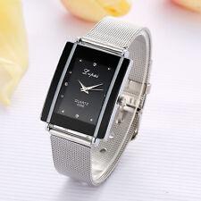 NEUE Edelstahl Damenuhr Armbanduhr Diamant Analog Quarz Luxus Dress Watch GIFT