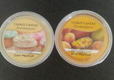 Yankee Candle Set of 2 Mango Peach Salsa & Vanilla Cupcake Easy Melt Cups Scent