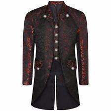 12 Colours Mens Fancy Steampunk MultiColor Tailcoat Jacket Gothic Victorian Coat