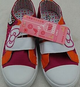 Marks and Spencer M and S Girls Trainers Plimsolls SIZE 13 Party