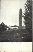 Peru VT Stark Monument c1910 Postcard
