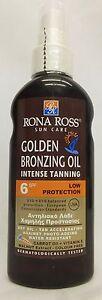 Rona Ross Golden Bronzing Oil Intense Tanning SPF 6 (160ml)  EXPRESS P&P