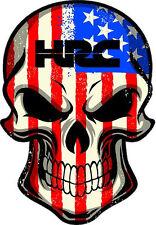 "#238 (1) 4"" USA American America Murica Merica Flag Skull Sticker Decal HRC"