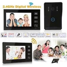 "7"" Wireless Video Home Door Digital Phone Doorbell Intercom CCD Camera Monitor"
