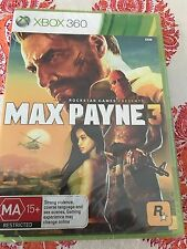 MAX PAYNE 3 XBOX 360 ORIGINAL AUS PAL FACTORY SEALED