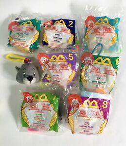 Vintage 1999 Disney Winnie The Pooh Plush Clip McDonald's Happy Meal Toys Lot