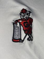 Mens Peter Millar Summer Comfort White GA Bulldogs Polo Shirt Size XLARGE XL