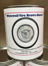 Truespoke White wall Tire Brown Stain Remover and Cleaner 32 OZ. Can Whitewalls