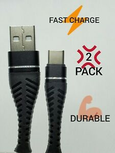 USB Type C Charging Cable Fast Charging, 2 Pack (2×3ft cables) USB-C Charging
