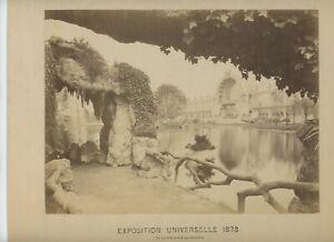 Vintage 10 x 12 Armoire Photo Exposition Universelle (1878) Paris France