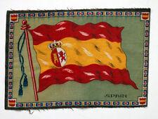 Spain Antique Cigarette Tobacco Vintage Flannel Felt World Flag /Patchwork Quilt