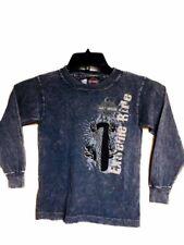 "Harley-davidson Little Boy's Long Sleeve shirt Gray ""E-Ride"" size 6-8"