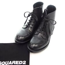 DSQUARED2 Side zip ankle leather boots black