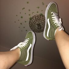 DO NOT BUY CANT DELETE THEM NOT FOR SALE Khaki high top okd skool vans uk 4.5