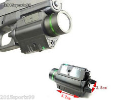 Combo CREE Flashlight + Green Laser Sight Tactical Weaver Rail For Pistol/Glock