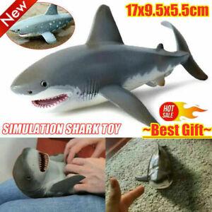 Lifelike Shark Shaped Kids Baby Toy Realistic Platic Animal Model Toy New.