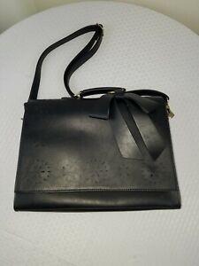 Ecosusi Briefcase Black Faux Leather