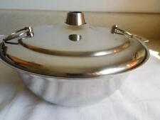 Stainless Steel MONGOLIAN HOT POT to be used with a gas portable burner