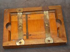 "vtg Wood 3.5 x5.5"" Glass Plate Film Holder Camera felted org paint worn"