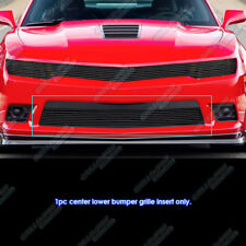 For 2014-2015 Chevy Camaro LS/LT/LT With RS Package Black Bumper Billet Grille