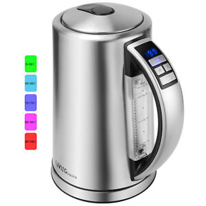 LIVINGbasics® 1500W Temperature Electric Kettle 1.7 Liter, Stainless steel
