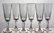 Set of 6 Vintage Retro Luminarc 'Victoria' Champagne Flutes / Glasses