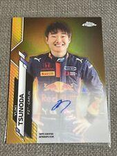 2020 Topps Chrome Formula 1 Racing Yuki Tsunoda RC Gold Refractor Auto 9/50