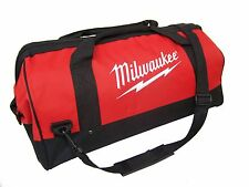 Milwaukee Tool Bag Large Wide w/Strap Contractor Case Storage Canvas Hand Tote