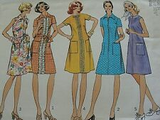 Vintage Simplicity 6078 misses' A-Line dress patterns size 10