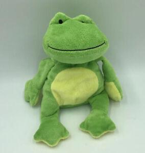 Ty Pluffies Ponds Green Frog Yellow Tummy Feet Plush Tylux Baby Sewn Eyes 11