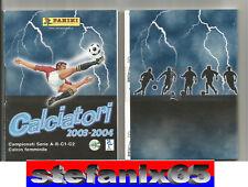 Set Aggiornamenti Completi Panini Calciatori Campionato 2003/2004-04 da Edicola