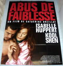 ABUS DE FAiBLESSE Isabelle Huppert Catherine Breillat Kool Shen GRANDE AFFiCHE