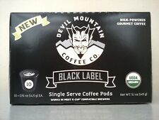 DEVIL MOUNTAIN Organic USDA Certified K-Cup Pod Type Coffee, HIGH POWERED!