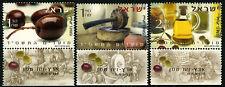 Israel 1536-1538 tabs, MNH. Olive Oil. Olives, Olive press, Jars of oil, 2003