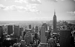 Framed Print - Empire State Building New York City Black & White (Picture Art)