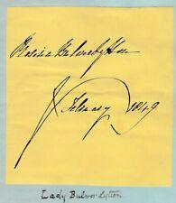 More details for rosina bulwer lytton -novelist -public outcry when assylumed by husband -1849sig